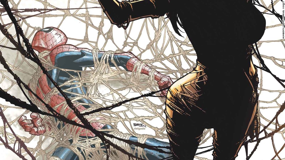 """The cover of """"Amazing Spider-Man"""" #4 features the debut of the other person bitten by that spider, Silk."""