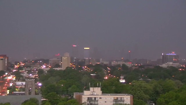Watch storm sweep across Memphis