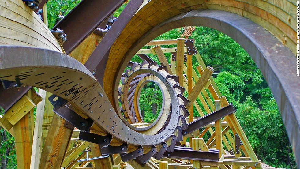 Dare you ride it? The first wooden coaster that features a double barrel roll as well as the world's steepest first drop on a wooden coaster (162 feet at 81 degrees) can be found at Silver Dollar City.