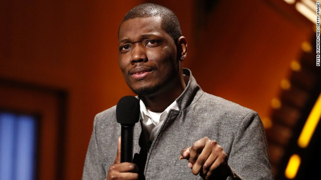 Comedian Michael Che performs during 'Late Night with Seth Meyers' in February 2014 in New York City.