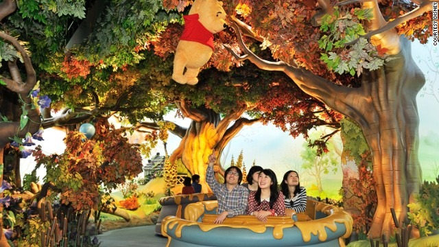 Calm and soothing wins the day at Pooh's Hunny Hunt.