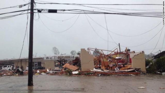 Tornado damage in Tupelo, Mississippi