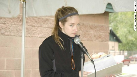 Erin Schwantner hosted the opening ceremony at the 2012 Out of the Darkness walk in Olympia, Washington.