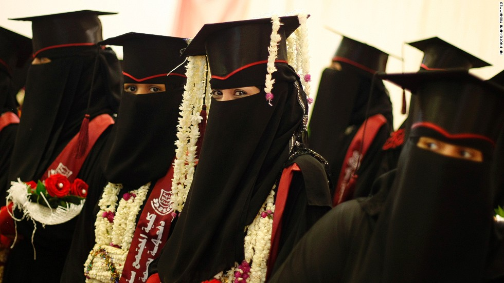"APRIL 29 - SANAA, YEMEN: Yemeni female university students celebrate during their graduation ceremony on April 28. Every year, the <a href=""http://www.wfp.org/node/3623/3479/640466"" target=""_blank"">United Nations World Food Programme</a> provides schoolgirls with rations of food to take home to encourage families to send their daughters to school. They aim to help 700,000 people in 2014."