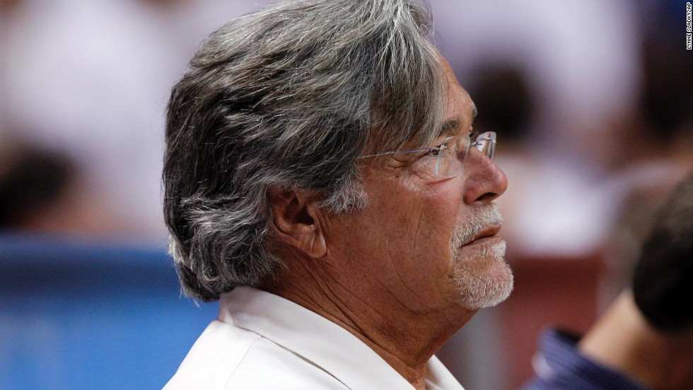 The NBA said Miami Heat owner Micky Arison had been fined in 2011 for posting about the league's collective bargaining process on Twitter. The amount of the fine was not disclosed, but several media reports said it was $500,000.