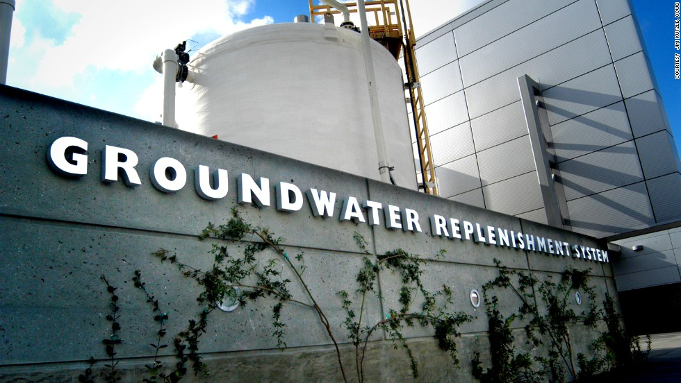 California's Orange County Water District (OCWD), has a plant that recycles used water and returns it to the drinking supply. <br />It is expanding production to 100 million gallons per day, enough for 850,000 people.