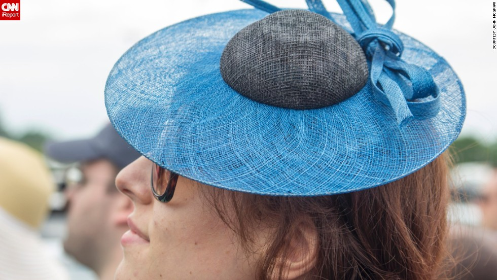 """Every time I look at this photo, for some reason, I think of the early 1900s and think this is what a lot of women would wear,"" McGraw said of this tiny hat from 2011."