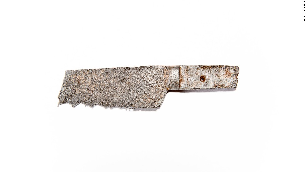"""The remains of a kitchen knife were found in the prisoner area. Unlike many Civil War sites, Camp Lawton has not been picked over by relic hunters because it only existed for a few months before being hastily abandoned when Maj. Gen. William Sherman's army marched through Georgia. It was soon """"lost"""" to history. Farmers worked the area and, eventually, trees and brush returned."""