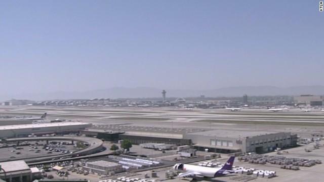 Flights stopped at LAX