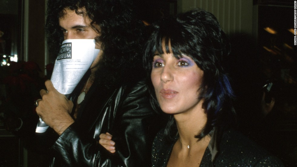 """Among the contributors to Simmons' solo album was his girlfriend at the time, Cher. Here the couple attends the premiere of """"Kramer vs. Kramer"""" in December 1979."""
