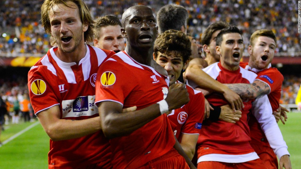 But Stephane Mbia's last-gasp header leveled the match at 3-3 and sent Sevilla through to the final on away goals.