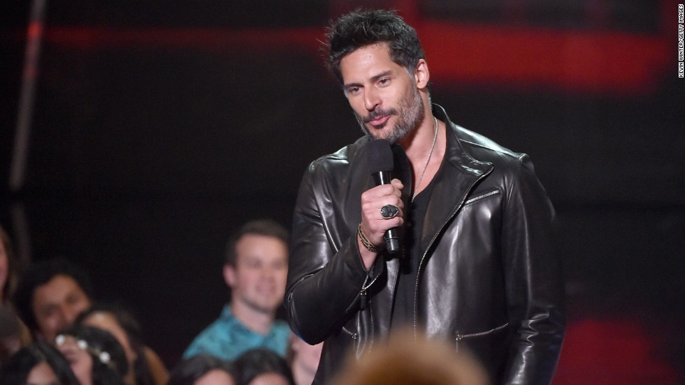 Actor Joe Manganiello speaks.