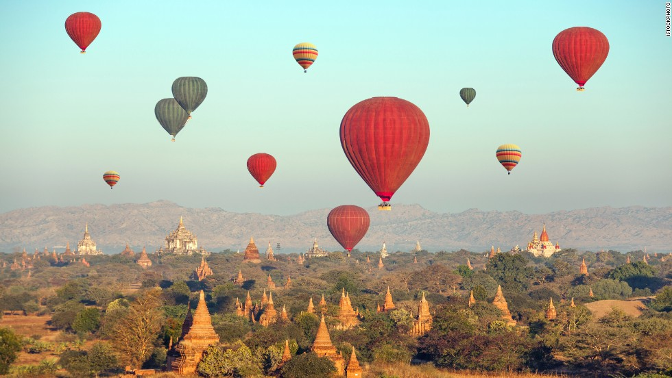 From the air, you can spot more than 4,000 pagodas and temple in what was the capital of the first Myanmar Empire.