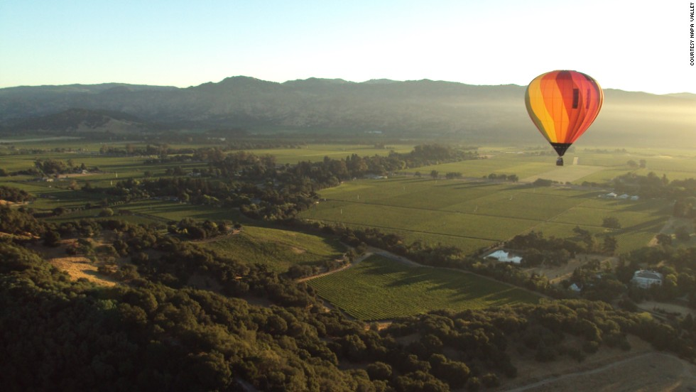 Travelers could board a hot air balloon for a tour of Napa Valley, California, way before the region became famous for its wine.