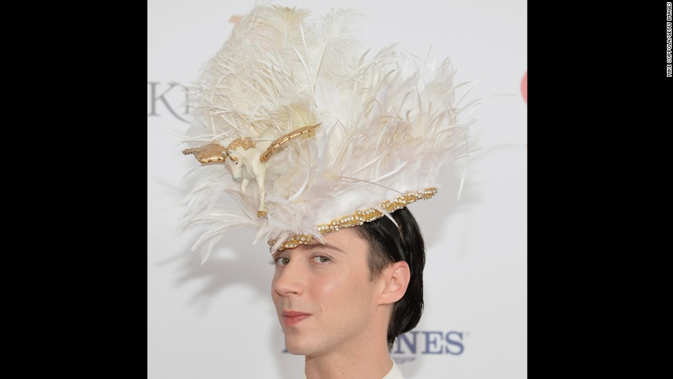 Johnny Weir arrives Saturday, May 3, 2014, for the 140th Kentucky Derby at Churchill Downs in Louisville, Kentucky. Take a look at what other celebrities attended and what they wore.