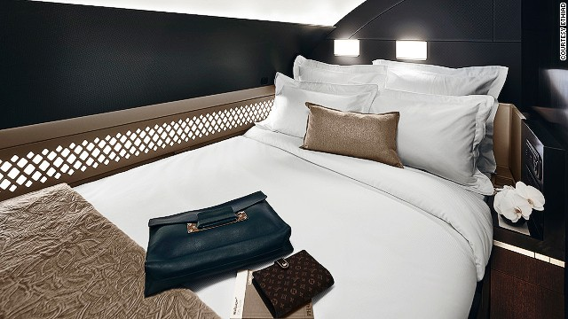 Once reserved for private jets, The Residence has its own double bed.