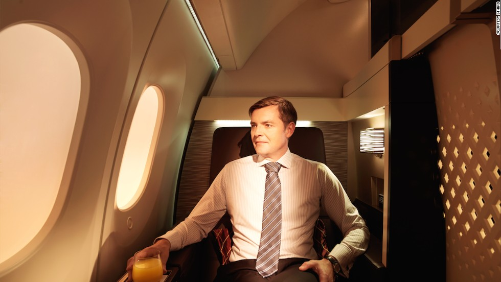 On its upgraded Boeing 787s, Etihad Airways will offer eight enhanced First Suites, with minibars and 26-inch-wide seats that convert to flat beds. Though few would scoff at one of these seats, private inflight suites aren't a new concept. Airlines such as rival Emirates offer similar first-class amenities.