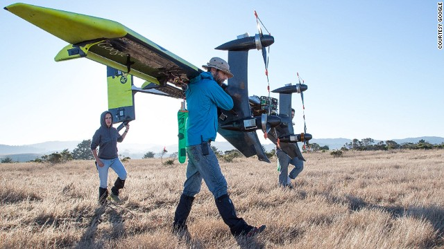 Google-owned Makani Power is developing an airborne wind turbine that looks like an airplane.