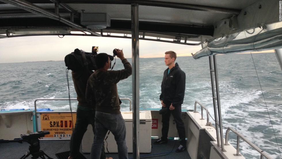 "Day 28 -- CNN's Will Ripley reports from the ""Thunder"" off the coast of Western Australia"