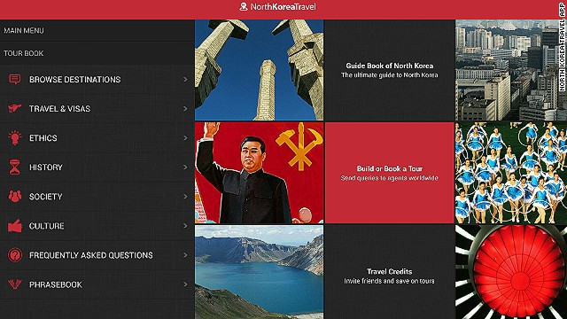 The North Korea Travel App includes sections on the country's history and culture.