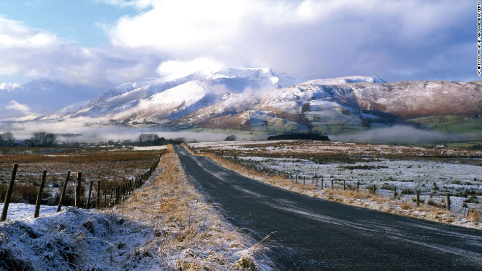Blencathra is often dusted with snow in the winter.