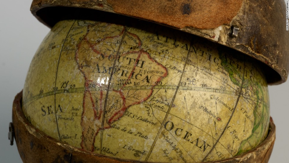 This pocket globe is just three inches in diameter. It was made in 1793 by Scotsman John Miller.