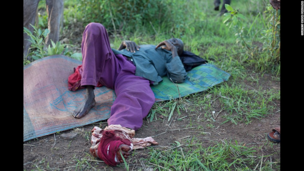 Another injured man lies on the ground after the ambush.