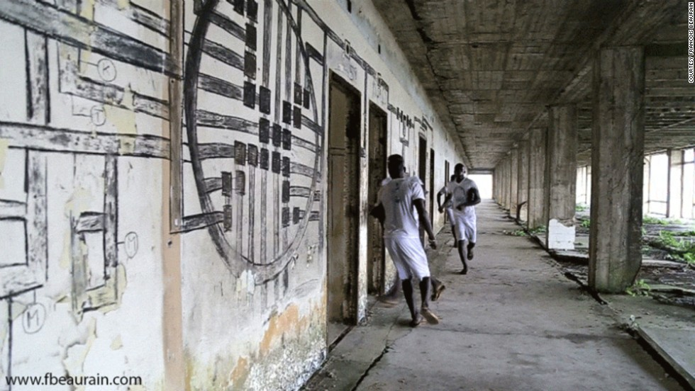 Many of his GIFs are set in the Ducor Hotel, which was once one of Africa's first five-star properties. Today, it sits mostly abandoned in the aftermath of Liberia's Civil War.