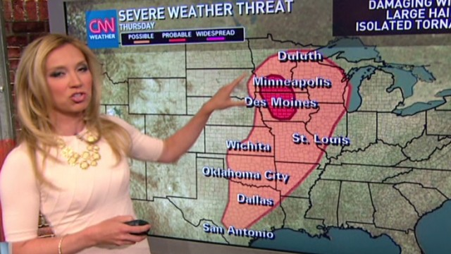 Millions in the path of severe storms