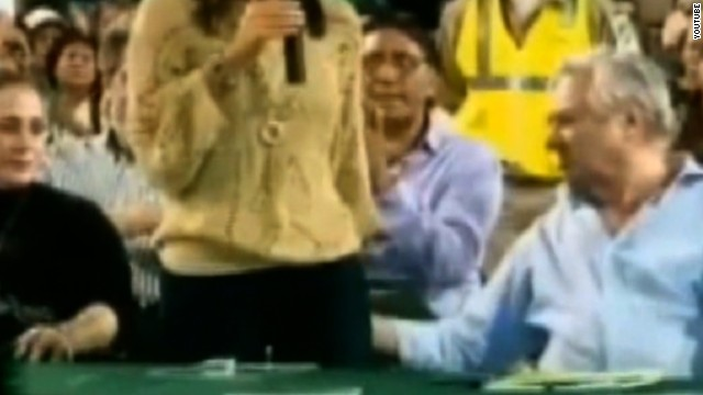 In March 2012, the mayor of Bolivia was twice caught on camera touching the bottom of the city council's president.