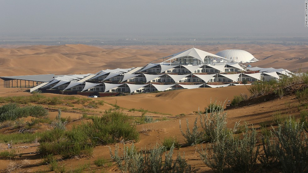 """<strong>Desert Lotus Resort, Inner Mongolia</strong><br /><strong>Architect: </strong>PLaT Architects<strong><br />Status:</strong> Construction complete, opening TBA<strong><br />Rooms: </strong>384<br /><strong>Fast fact: </strong>Part of Inner Mongolia's Xianghawan Resort in the Kubuqi Desert, the Desert Lotus is completely free of tiles and bricks, built with eco-friendly materials to utilize solar, water and wind energy in the desert.<a href=""""http://www.xiangsw.com/English/holiday_zhusu.php"""" target=""""_blank""""><em><br />Ziangshawan Resort<em></em></a>, Zhungeer South Road 11, Dongsheng District, Erods, Inner Mongolia; +86 477 396 3366 </em>"""