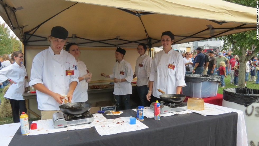 Moose, possum, snake, mole and perhaps squirrel have all been known to appear on the menu at the Roadkill Cook-off in Marlinton, West Virginia.
