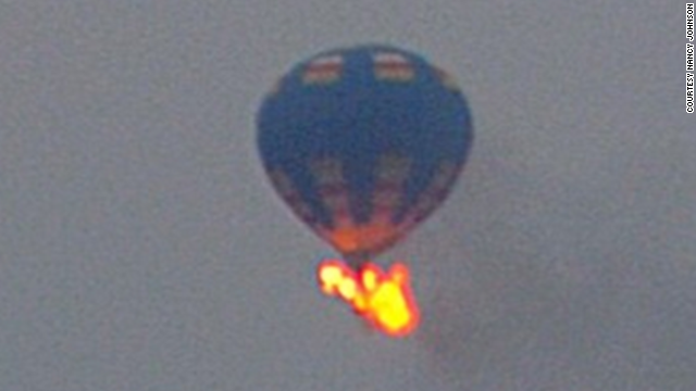 Police looking for hot air balloon crash