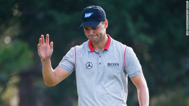 Martin Kaymer makes birdie on the third hole during the second round of The Players Championship .