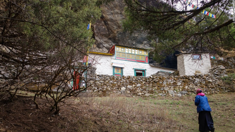 At Charok, a monastery located high on the steep hills above Thamo, a single female lama lives an ascetic life, immersed in nature, isolated from any human settlements.