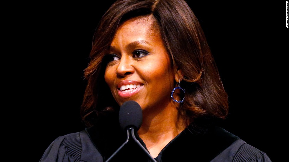 "The first lady delivers the commencement address at Dillard University in New Orleans on May 10. She'll also <a href=""http://politicalticker.blogs.cnn.com/2014/04/24/first-lady-changes-plans-after-controversy-over-high-school-graduation-address/"">speak to seniors in Topeka, Kansas, just before their graduation</a> and the District of Columbia College Access Program in Washington this year."