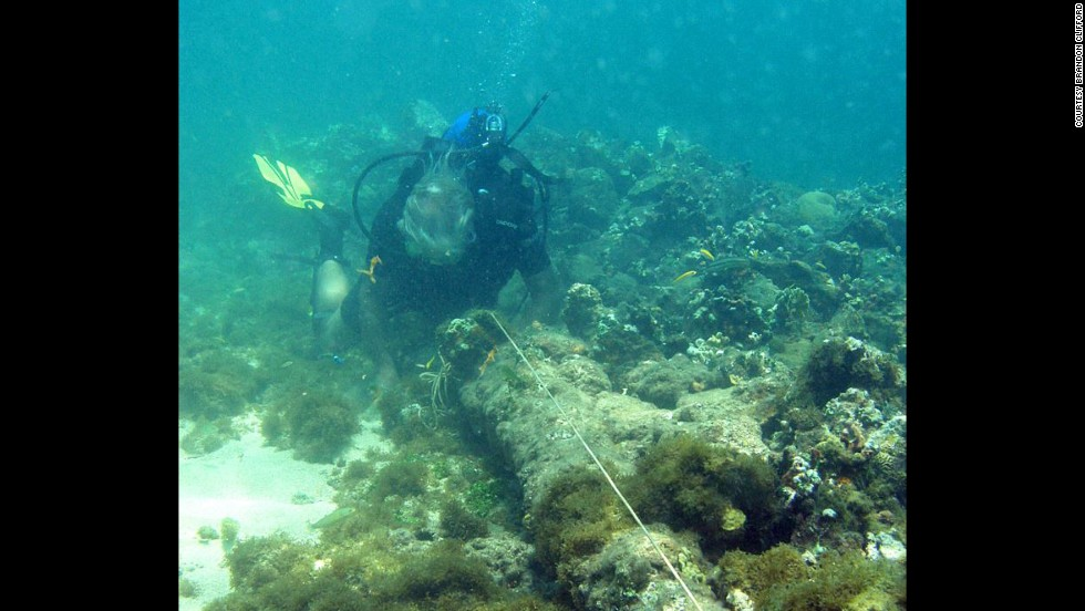 The location of the Santa Maria, Christopher Columbus' flagship for his journey to the new world, has remained a mystery since it ran aground in late 1492. Underwater explorer Barry Clifford believes these are the remains of Columbus' Santa Maria off the coast of Haiti.