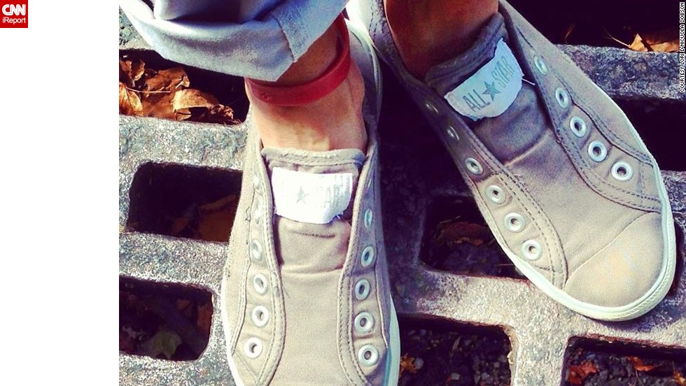 "<a href=""http://instagram.com/brick13"" target=""_blank"">Lori Dobson</a> loves her Chuck Taylors for lunch hour walks on College Hill in Easton, Pennsylvania. Comfort is her number one priority in choosing a shoe, she says."