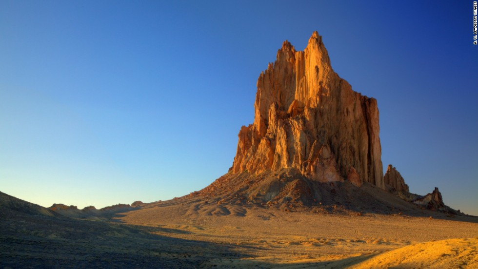 The Navajo Nation's Shiprock in New Mexico is the remnants of a volcano that erupted more than 30 million years ago. It's a sacred site to the Navajo people.