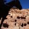 Tourists and horse at Petra Jordan