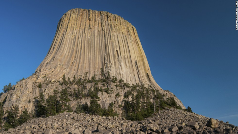 Devils Tower in northeast Wyoming, the start of the national monument of the same name, rises more impressively than any skyscraper.