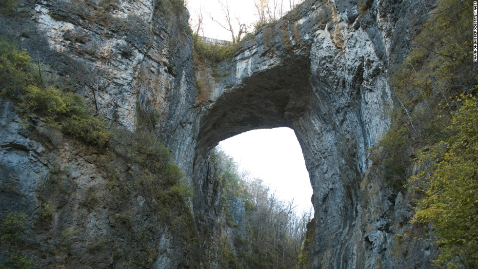 Revered by the Monacan as a sacred place, the Natural Bridge in Virginia was once owned by Thomas Jefferson.