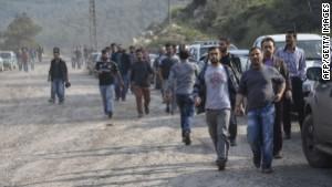 Families hold vigil outside Turkish mine