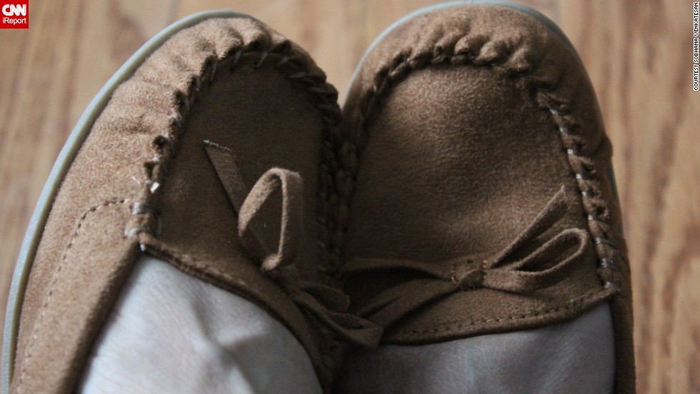 "Soft-soled moccasins are <a href=""http://ireport.cnn.com/docs/DOC-1128595"">Sobhana Venkatesan</a>'s choice of ""flexible, comfortable footwear for a casual city lifestyle"" in St. John's, Newfoundland."