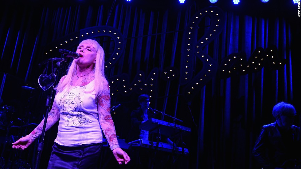 "Blondie formed forty years ago, with Debbie Harry, pictured, as front-woman. ""Heart of Glass"" was its first big hit, in 1979, and the band followed up with chart-topping singles such as ""Call Me"" and ""Rapture."" Here, Harry performs on May 15, 2014 in New York City. Blondie released its latest album, ""Ghosts of Download,"" this week."