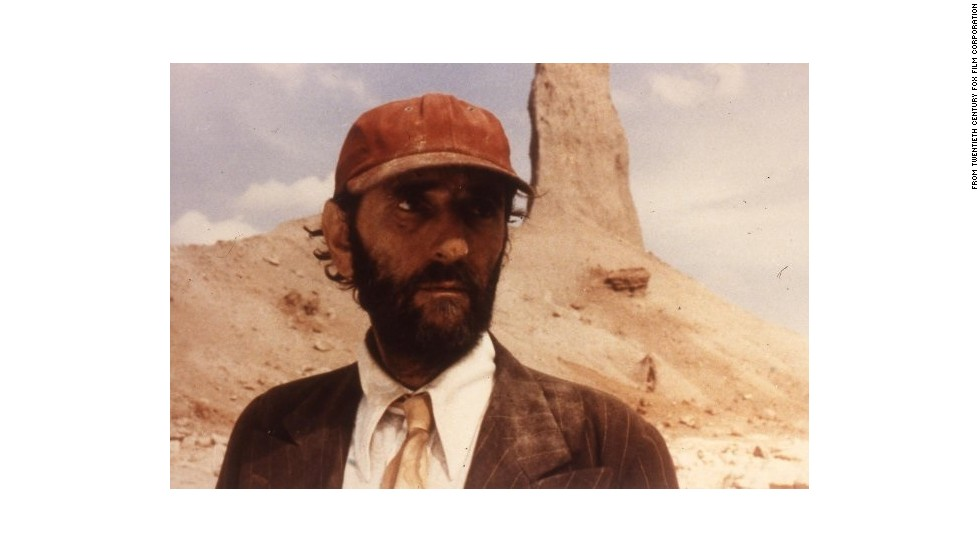 "Harry Dean Stanton as Travis in Wim Wender's Palme-winner ""Paris Texas."""