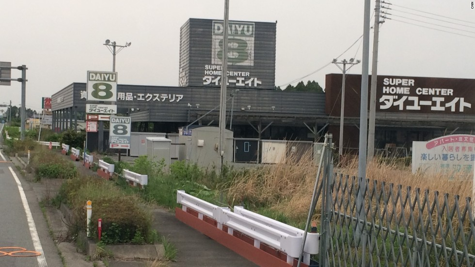 The desolate roads inside Fukushima's highly-contaminated red zone.