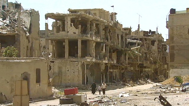 Syria reflections: Homs in ruins