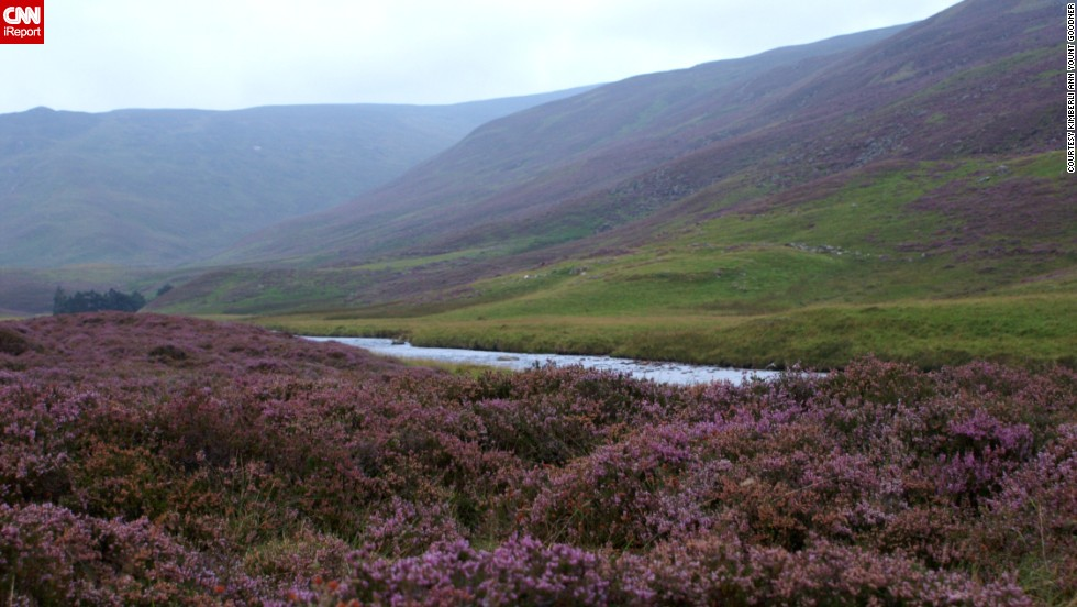 "<a href=""http://cairngorms.co.uk/"" target=""_blank"">Cairngorms National Park</a> is the largest park in the British Isles. <a href=""http://ireport.cnn.com/docs/DOC-1129437"">Kimberli Ann Yount Goodner</a> says you can hike through the whole park. She says one thing to keep an eye out for is a large stone on the side of a hill that reads, ""Take a moment to behold, as still skies or storms unfold, in sun rain sleet or snow, warm your soul before you go."""