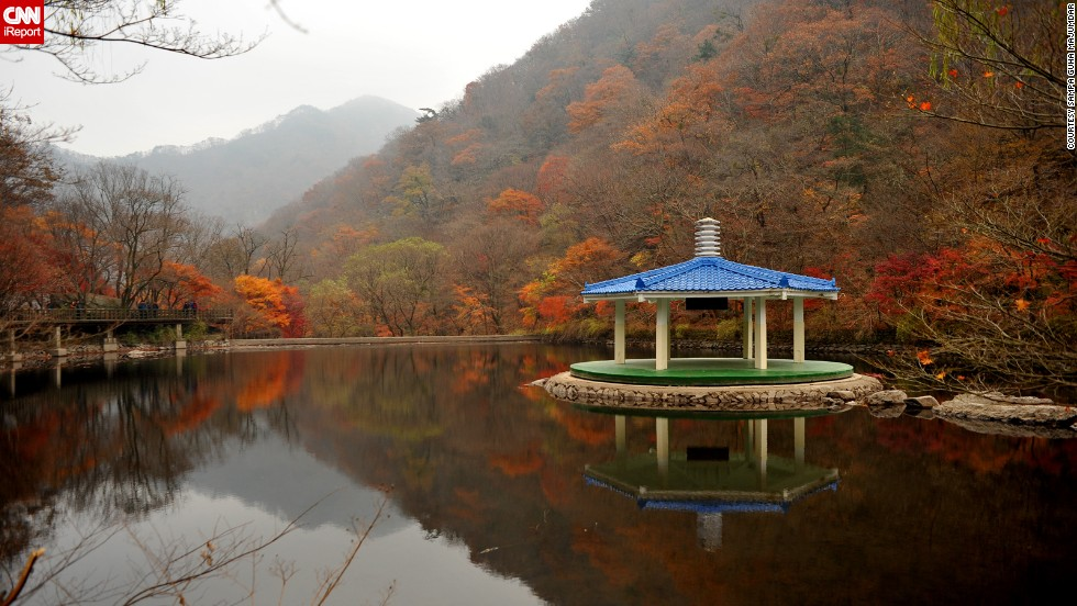 "South Korea's <a href=""http://english.visitkorea.or.kr/enu/SI/SI_EN_3_1_1_1.jsp?cid=264295"" target=""_blank"">Naejangsan National Park</a> is named after the Naejangsan Mountain. <a href=""http://ireport.cnn.com/docs/DOC-1132940"">Sampa Guha Majumdar</a> says the park is beautiful to visit in the fall when the leaves are changing colors. She also says the park's Buddhist temple attracts many visitors."